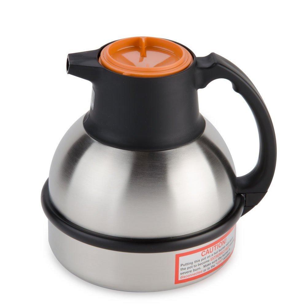 Bunn - Zojirushi 64 oz. Stainless Steel Deluxe Thermal Carafe - Orange Top (Bunn 36252.0000)