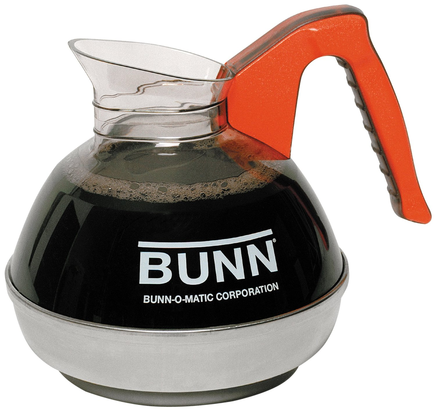 Bunn - 6101.0101 Easy Pour Commercial 12-Cup Decaf Coffee Decanter, Orange
